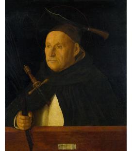 Giovanni Bellini - Un domenicano, con gli attributi di San Pietro Martire. Stampa su tela