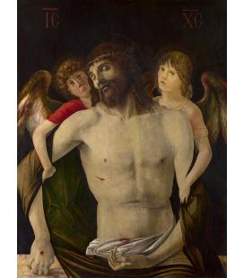 Giovanni Bellini - Il Cristo morto sostenuto da angeli. Stampa su tela