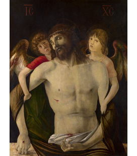 Giovanni Bellini - The Dead Christ supported by Angels. Print on canvas