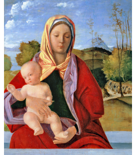 Giovanni Bellini - La Vergine e il bambino. Stampa su tela