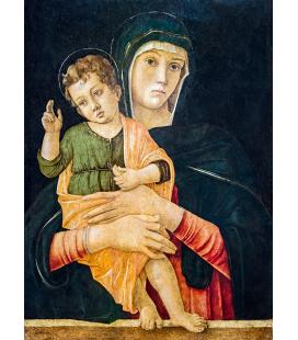 Giovanni Bellini - Madonna con bambino benedicente. Stampa su tela