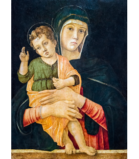 Giovanni Bellini - Madonna with Child Blessing Cat. Print on canvas