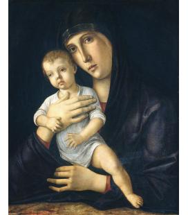 Giovanni Bellini - Madonna con Bambino. Stampa su tela