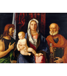 Giovanni Bellini - Madonna And Child With Saint John The Baptist And Saint. Print on canvas