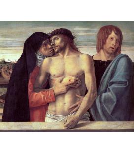 Giovanni Bellini - Cristo morto sostenuto dalla Madonna e San Giovanni. Stampa su tela
