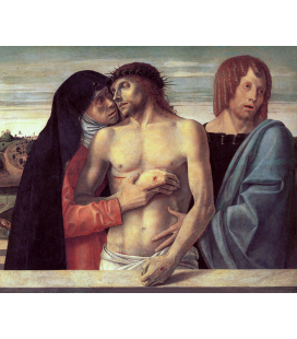 Giovanni Bellini - Dead Christ Supported by the Madonna and St John. Print on canvas
