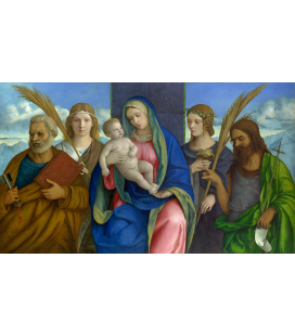 Giovanni Bellini - Madonna and Child with Saints. Print on canvas