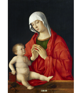 Giovanni Bellini - Madonna with Child. Print on canvas