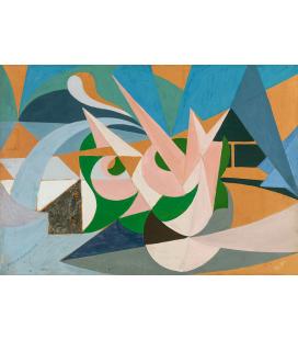 Balla Giacomo - Lines of landscape forces + garden. Printing on canvas