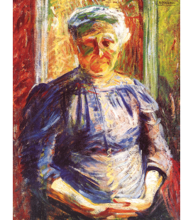 Boccioni Umberto - Portrait of the Mother. Printing on canvas