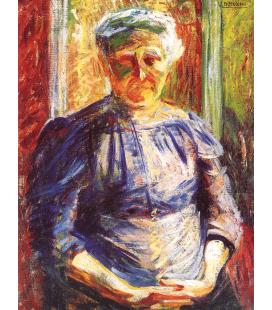 Boccioni Umberto - Ritratto della Madre. Stampa su tela