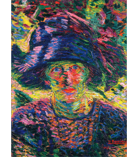 Boccioni Umberto - Female portrait. Printing on canvas