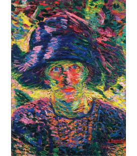 Boccioni Umberto - Ritratto femminile. Stampa su tela