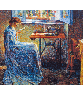 Boccioni Umberto - Novel of a seamstress. Printing on canvas