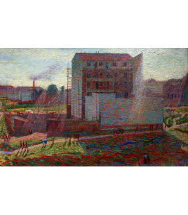 Boccioni Umberto - Workshops at Porta Romana. Printing on canvas