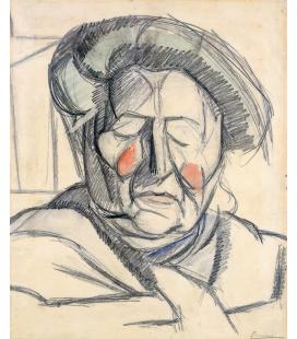 Boccioni Umberto - The artist's mother. Printing on canvas
