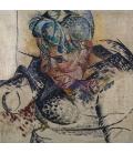Boccioni Umberto - Head study, the mother. Printing on canvas