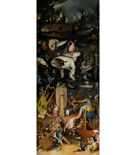 Hieronymus Bosch - Garden of earthly pleasures 3. Printing on canvas