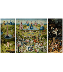 Hieronymus Bosch - Garden of earthly pleasures. Printing on canvas