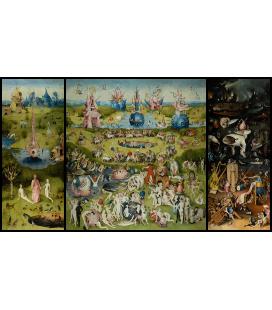 Hieronymus Bosch - Giardino dei piaceri terreni. Stampa su tela