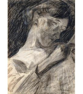 Boccioni Umberto - Lettura della giovane donna. Stampa su tela