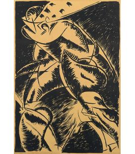 Boccioni Umberto - Dynamism of a human body. Printing on canvas
