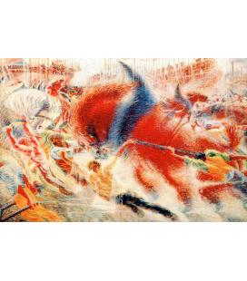 Boccioni Umberto - La città che sale. Stampa su tela