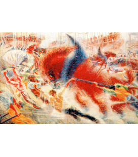 Boccioni Umberto - The city that rises. Printing on canvas