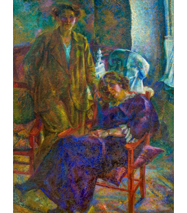 Boccioni Umberto - The two friends. Printing on canvas
