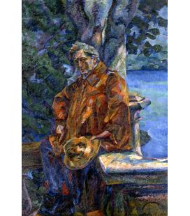 Boccioni Umberto - Ritratto del Maestro Busoni. Stampa su tela