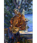Boccioni Umberto - Portrait of Maestro Busoni. Printing on canvas