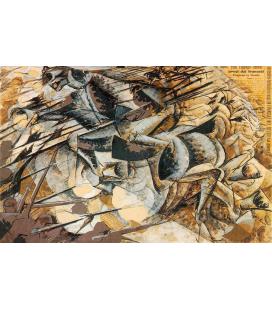 Boccioni Umberto - Carica dei lancieri. Stampa su tela