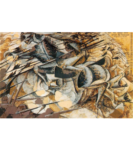 Boccioni Umberto - Charge of the spearmen. Printing on canvas