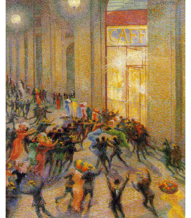 Boccioni Umberto - Brawl in the Gallery. Printing on canvas