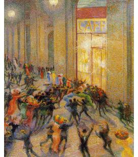 Boccioni Umberto - Rissa in Galleria. Stampa su tela
