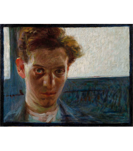 Boccioni Umberto - Portrait of a young man. Printing on canvas