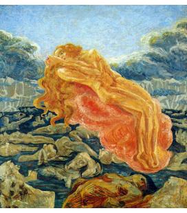 Boccioni Umberto - Il sogno Paolo e Francesca. Stampa su tela