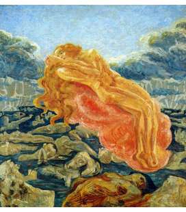 Boccioni Umberto - The dream Paolo and Francesca. Printing on canvas