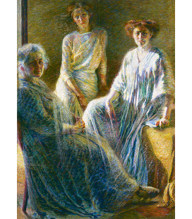 Boccioni Umberto - Three women. Printing on canvas