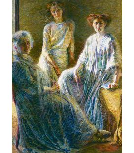 Boccioni Umberto - Tre donne. Stampa su tela