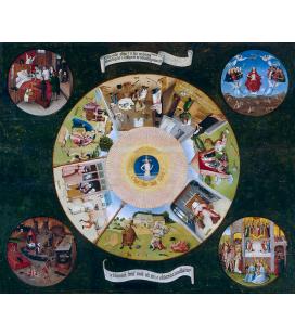 Hieronymus Bosch - I sette peccati capitali e le quattro ultime cose. Stampa su tela