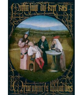 Hieronymus Bosch - Estrazione della pietra della follia. Stampa su tela