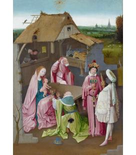 Hieronymus Bosch - L'Adorazione del Magi. Stampa su tela