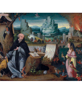 Hieronymus Bosch - The temptation of Saint Anthony. Printing on canvas