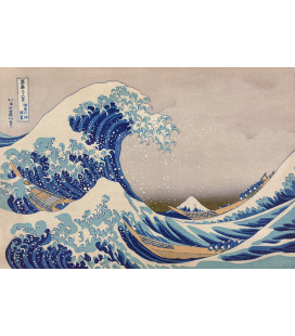 Katsushika Hokusai - La grande onda di Kanagawa. Stampa su tela