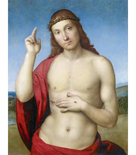 Raffaello Sanzio - Cristo Redentore benedicente. Stampa su tela