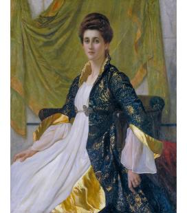 Blake Richmond William - Ritratto della signora Ernest Moon. Stampa su tela