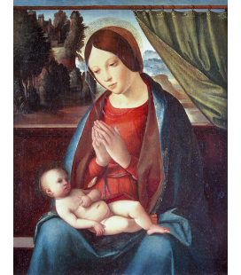 Boccaccio Boccaccino - The Virgin and Child. Stampa su tela