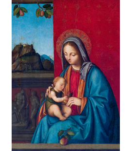 Boccaccio Boccaccino - The Virgin and Child. Printing on canvas