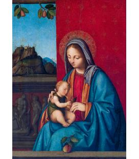 Boccaccio Boccaccino - The Virgin and Child. Printing on canvas